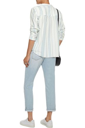 CURRENT/ELLIOTT The Annabelle gathered floral-print cotton-gauze top