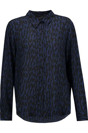 BELSTAFF Whitley printed silk-georgette shirt