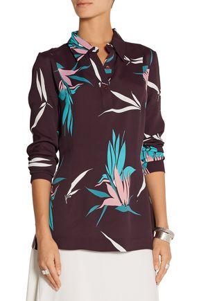 MARNI Printed crepe blouse