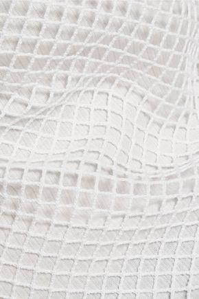ALEXANDER WANG Cotton and modal-blend mesh tank