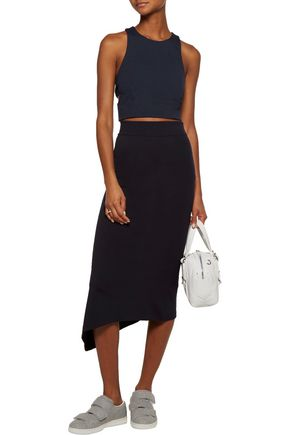 T by ALEXANDER WANG Cropped cutout crepe top