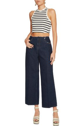T by ALEXANDER WANG Cropped cotton top