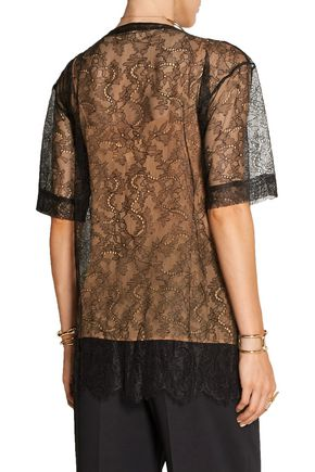 MAISON MARGIELA Embellished lace top