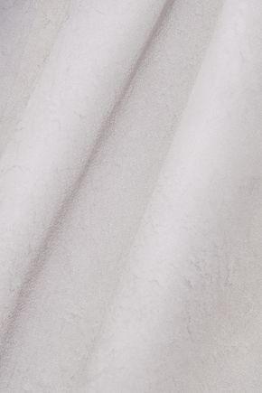 RAQUEL ALLEGRA Printed textured silk-georgette top