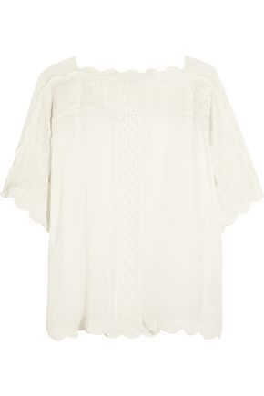 ISABEL MARANT ÉTOILE Axel embroidered georgette top