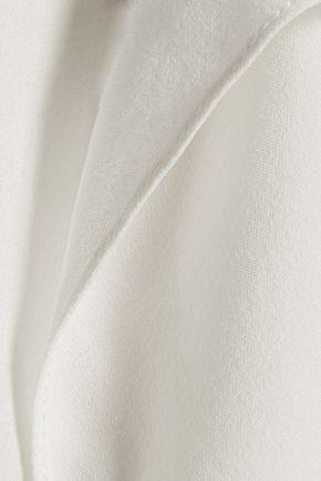 ELIZABETH AND JAMES Papillon ruffled silk-chiffon top