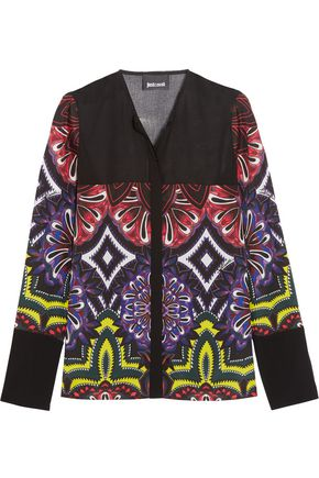 JUST CAVALLI Printed chiffon blouse