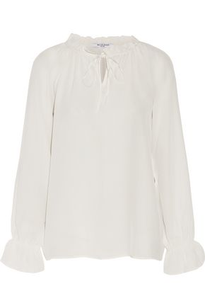 W118 by WALTER BAKER Laney ruffled silk-crepe blouse