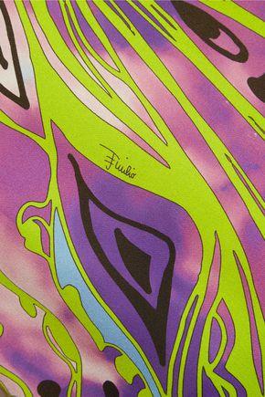 EMILIO PUCCI Cutout printed silk-crepe top