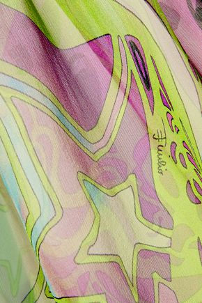 EMILIO PUCCI Ruffled printed silk-chiffon top