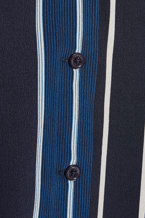 EQUIPMENT Adalyn striped washed-silk mini dress