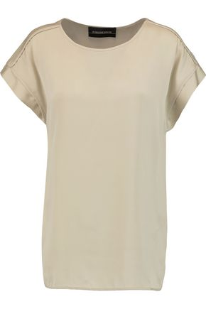 BY MALENE BIRGER Candillani washed stretch-silk top ...