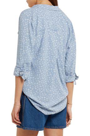 SPLENDID Printed chambray shirt