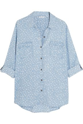 SPLENDID Printed chambray shirt