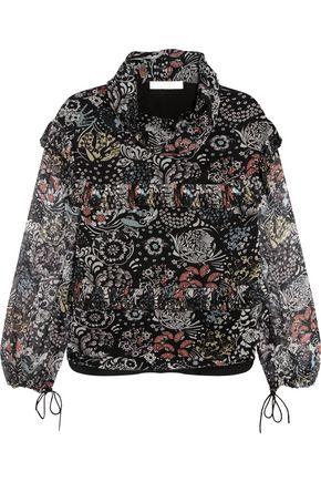 CHLOÉ Ruffled printed silk-chiffon blouse