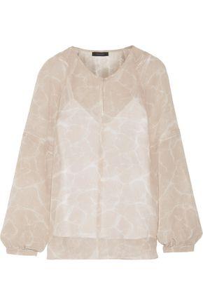 BELSTAFF Selene printed silk-georgette blouse