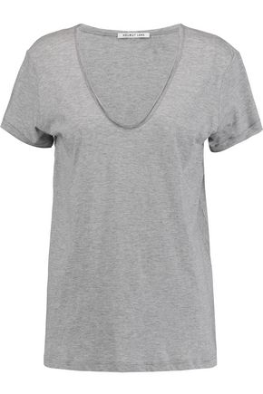 HELMUT LANG Cotton and cashmere-blend T-shirt