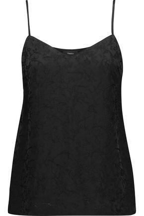 THEORY Sakshee satin-jacquard camisole