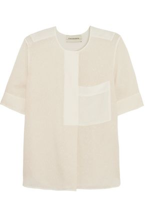 BY MALENE BIRGER Lokki embroidered silk-blend shirt