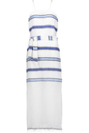 MASTER&MUSE x LEMLEM Addis striped cotton-blend gauze dress