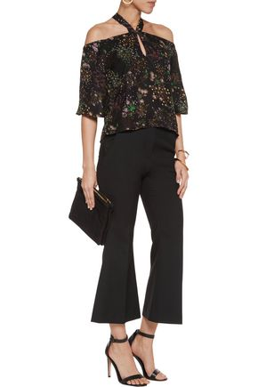 W118 by WALTER BAKER Lindy off-the-shoulder floral-print chiffon top