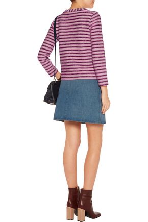 TORY BURCH Striped cotton-blend sweater