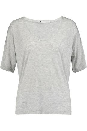 T by ALEXANDER WANG Mélange stretch-jersey T-shirt