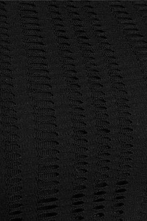 T by ALEXANDER WANG Laser-cut cotton-blend jersey tank