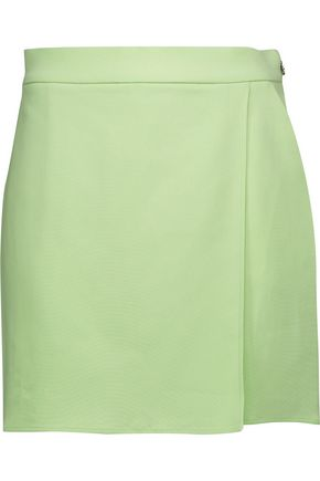 JUST CAVALLI Skirt-effect crepe shorts