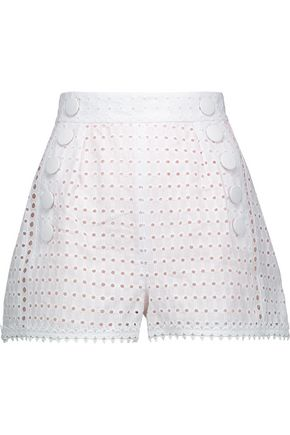 JUST CAVALLI Broderie anglaise cotton shorts