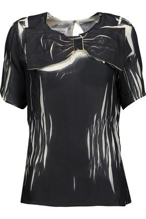 MAISON MARGIELA Bow-embellished printed chiffon blouse