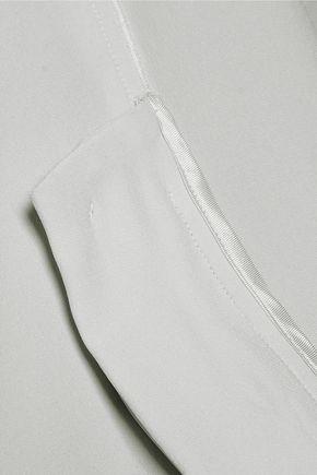 MAISON MARGIELA Satin-trimmed crepe top