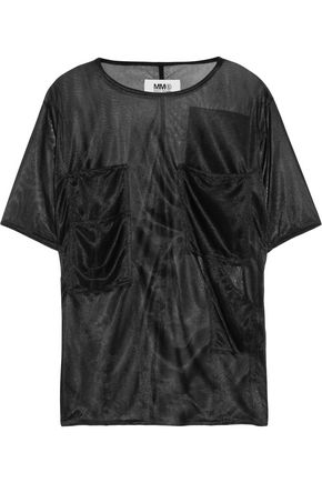 MM6 by MAISON MARGIELA Coated-chiffon T-shirt