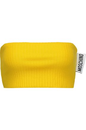 MOSCHINO Ribbed wool bandeau top