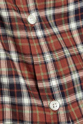 CURRENT/ELLIOTT The Perfect plaid cotton-blend shirt