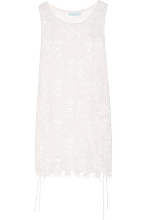 MELISSA ODABASH Barrie lace-up lace coverup