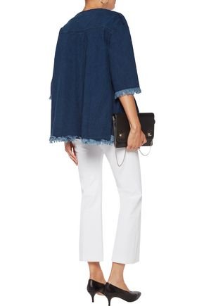 GOEN.J Frayed paneled cotton top