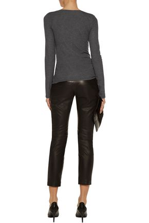 THEORY Jehane ribbed stretch-jersey top