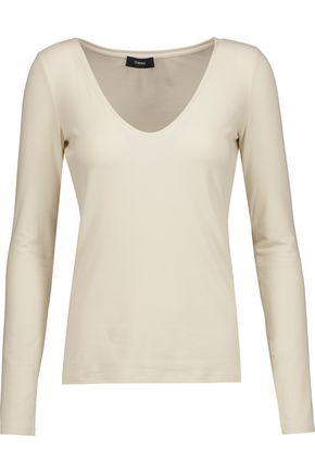THEORY Jehane ribbed jersey top