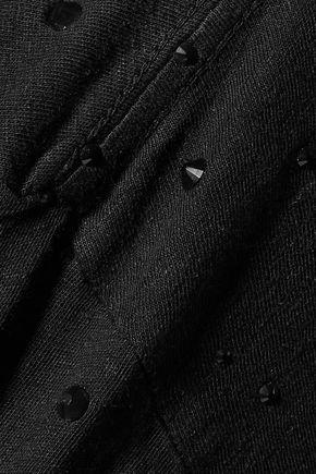 CURRENT/ELLIOTT Printed linen and cotton-blend jersey T-shirt