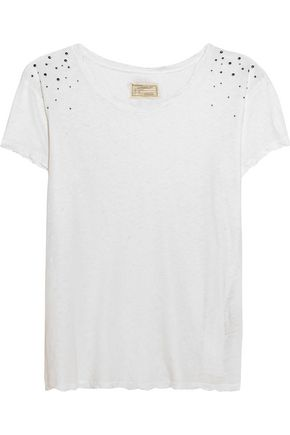 CURRENT/ELLIOTT Linen and cotton-blend jersey T-shirt