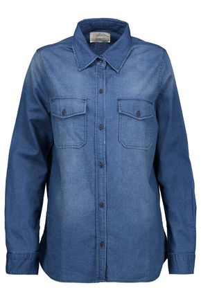 CURRENT/ELLIOTT The Perfect faded cotton-chambray shirt