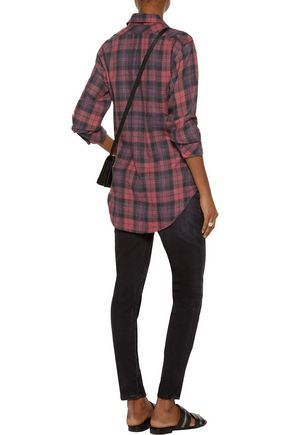 CURRENT/ELLIOTT The Prep School plaid cotton-blend shirt