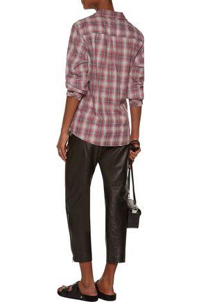 CURRENT/ELLIOTT The Slim Boy plaid flannel shirt