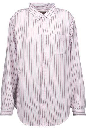 CURRENT/ELLIOTT Striped cotton shirt