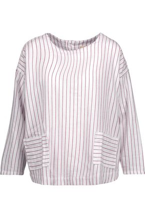 CURRENT/ELLIOTT The Joni striped cotton top