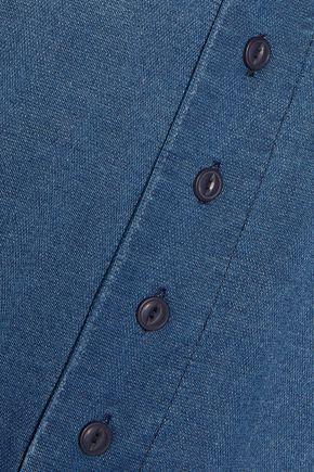 CURRENT/ELLIOTT Cotton-chambray top