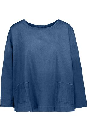 CURRENT/ELLIOTT The Joni cotton-chambray top