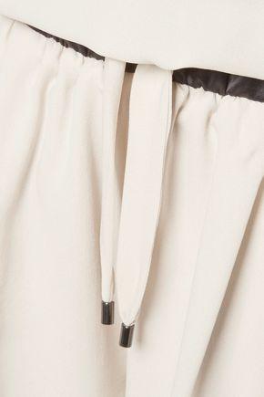 BRUNELLO CUCINELLI Silk-crepe playsuit