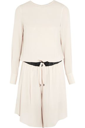 BRUNELLO CUCINELLI Silk-crepe playsuit
